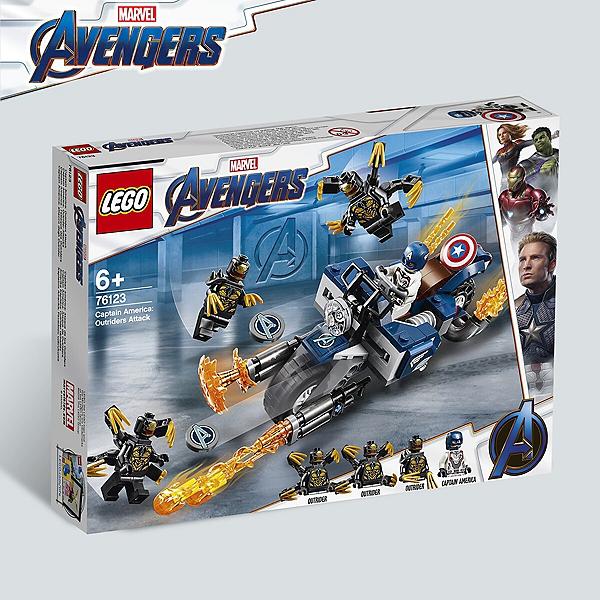 America Captain Heroestm L'attaque Et 76123 Des Marvel Lego® Super Outriders OZXikuP