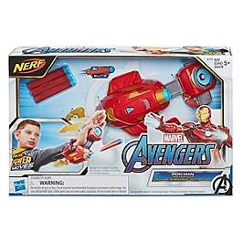 Marvel Avengers  Gant Répulseur Iron Man Lance-Fléchettes Nerf Power Moves - Accessoire De Déguisement - Disney Avengers - E7376EU40