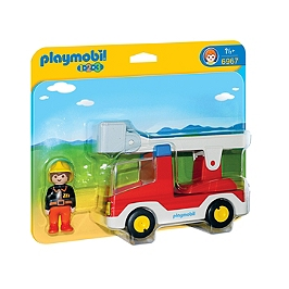 PLAYMOBIL - Camion de pompier avec échelle - 6967