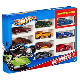 Hot Wheels Coffret 10 Vehicules -  #71  - FKR39