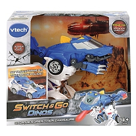 Switch & Go Dinos - Oxor, Super Therisinosaure (Voiture De Police) - 80-195005