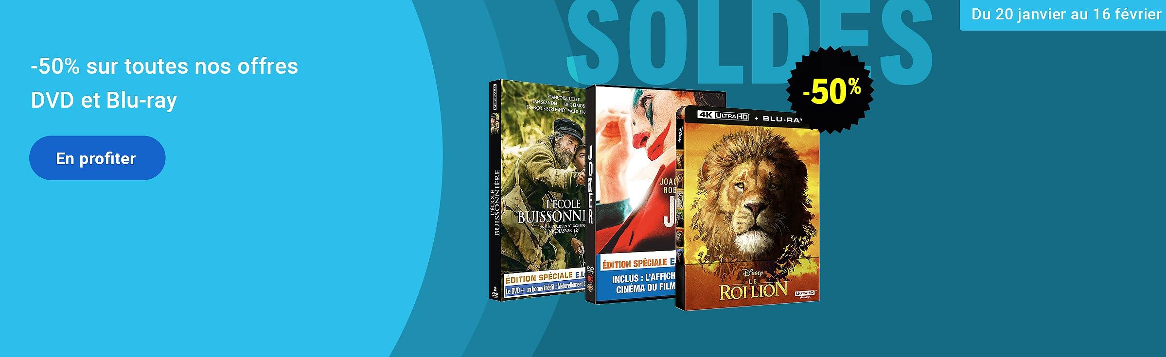 Soldes DVD et Blu-ray