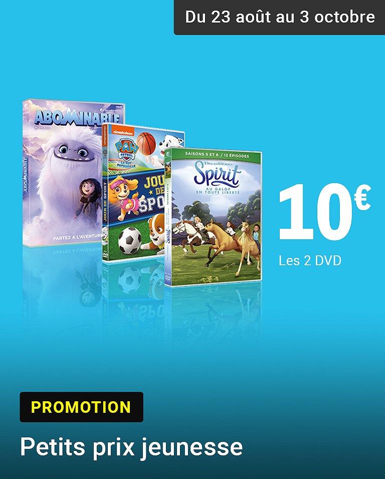 Promo 2 DVD jeunesse pour 10€