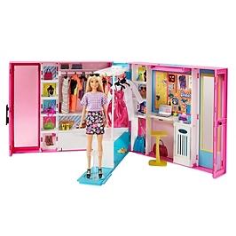Barbie - Barbie Et Son Dressing De Luxe (Poupée Incluse) - Mobilier Pour Poupée Mannequin - 3 Ans Et + - Barbie - GBK10