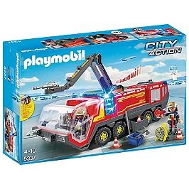 PLAYMOBIL - Pompiers Et Véhicule Aéroportuaire - 5337