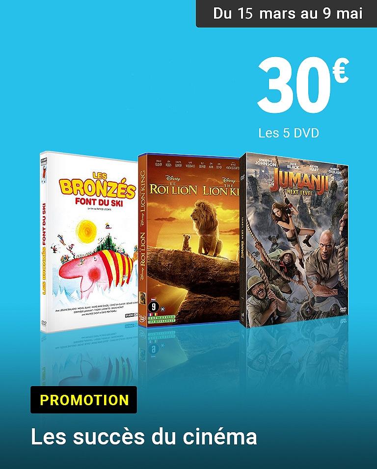 Succès du cinéma 5 DVD pour 30€