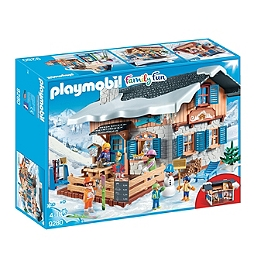 PLAYMOBIL - Chalet Avec Skieurs  - 9280