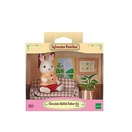 Le papa lapin chocolat et salon - SYLVANIAN FAMILIES - 5013