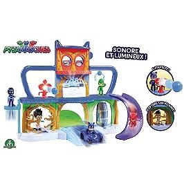 Pjm - Playset Quartier Général Avec Véhicule + Figurine Yoyo - Eone  - PJM06