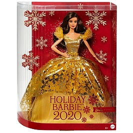 Barbie Signature - Barbie Joyeux Noel 2020 Chatain - Poupée Mannequin De Collection - 6 Ans Et + - Barbie Collector - GHT56