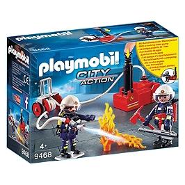 Pompiers avec matériel d'incendie - 9468