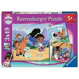 Puzzles 3X49 P - Nella, La Princesse Chevalier - Nella The Princess Knight - 4005556080564