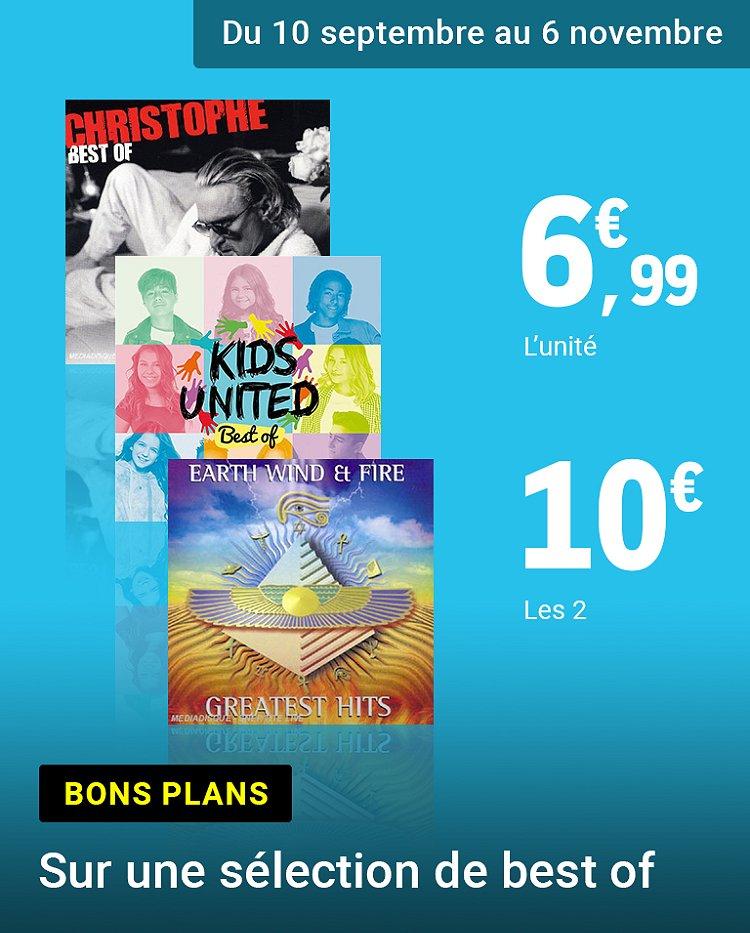 Promotion : 2 CD pour 10€